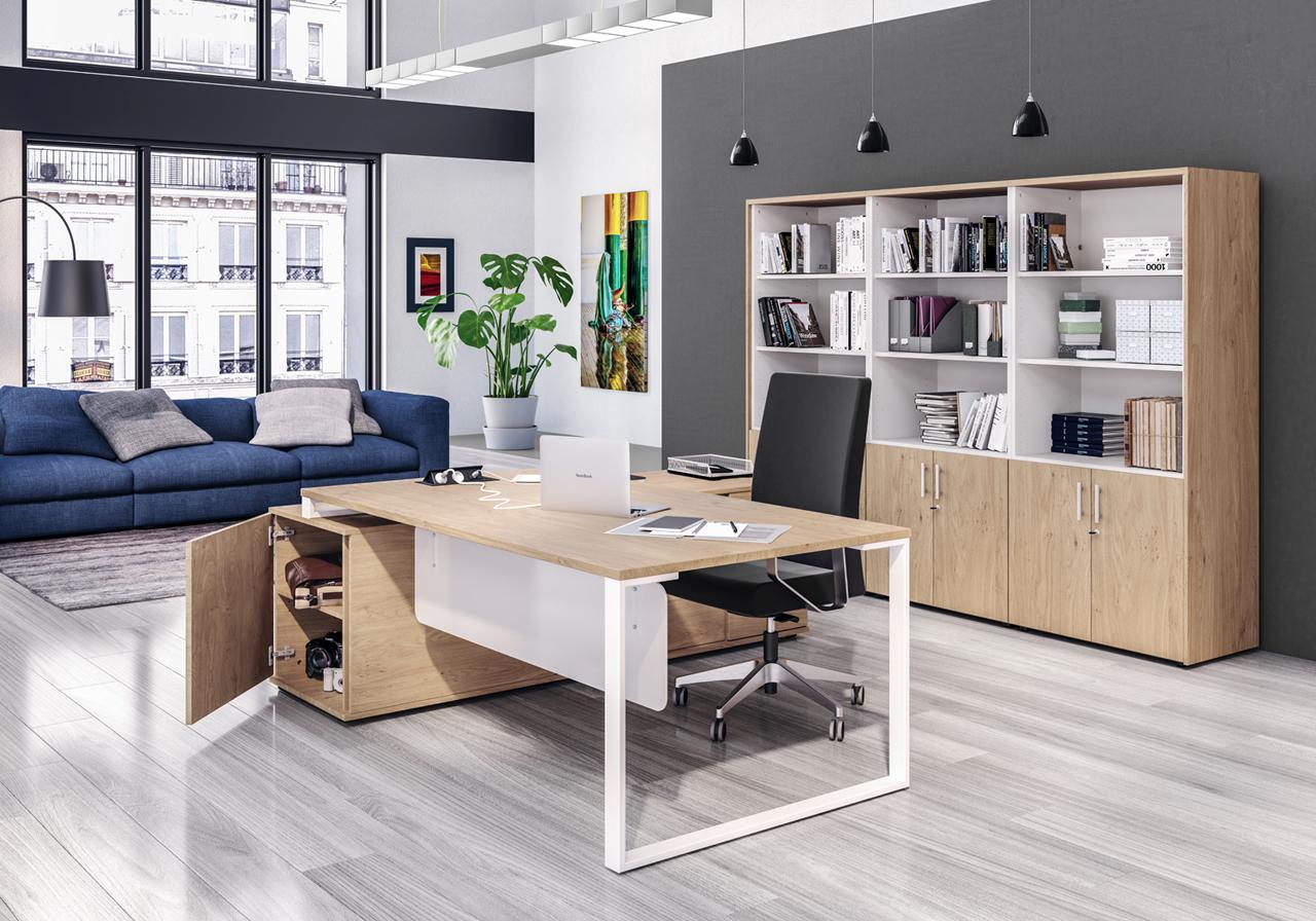 Images 3d Vue d'un bureau de direction dans une usine