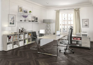 Image 3d d'un bureau en milieu pro