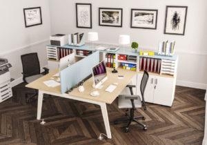 image 3d d'un bureau en milieu professionnel