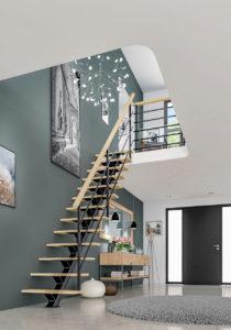 Image 3d d'un escalier dans un hall d'entrée