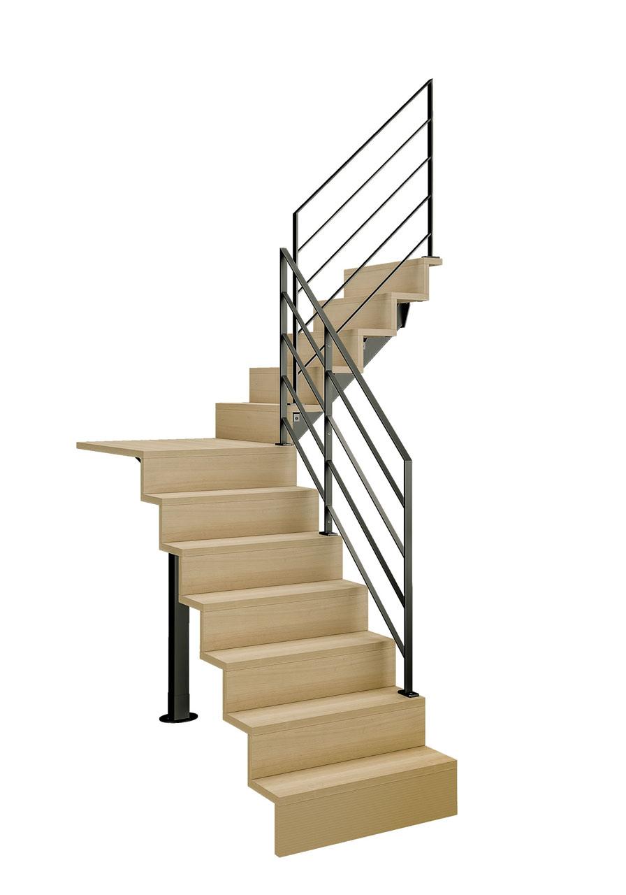Image 3d d'un escalier sur fond blanc