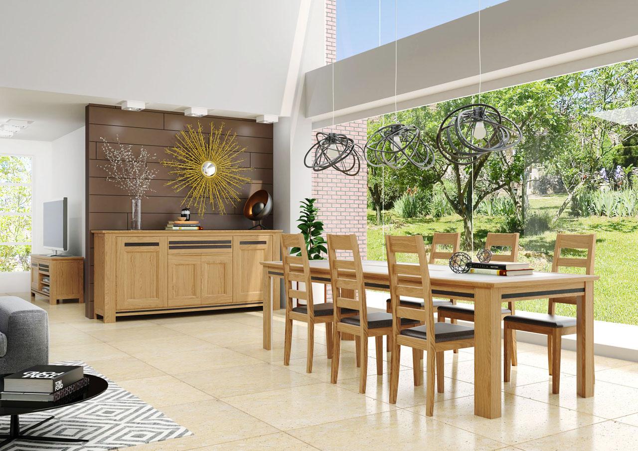 Image 3d d'une salle à manger AVEC UNE GRANDE BAIE VIRTR2E