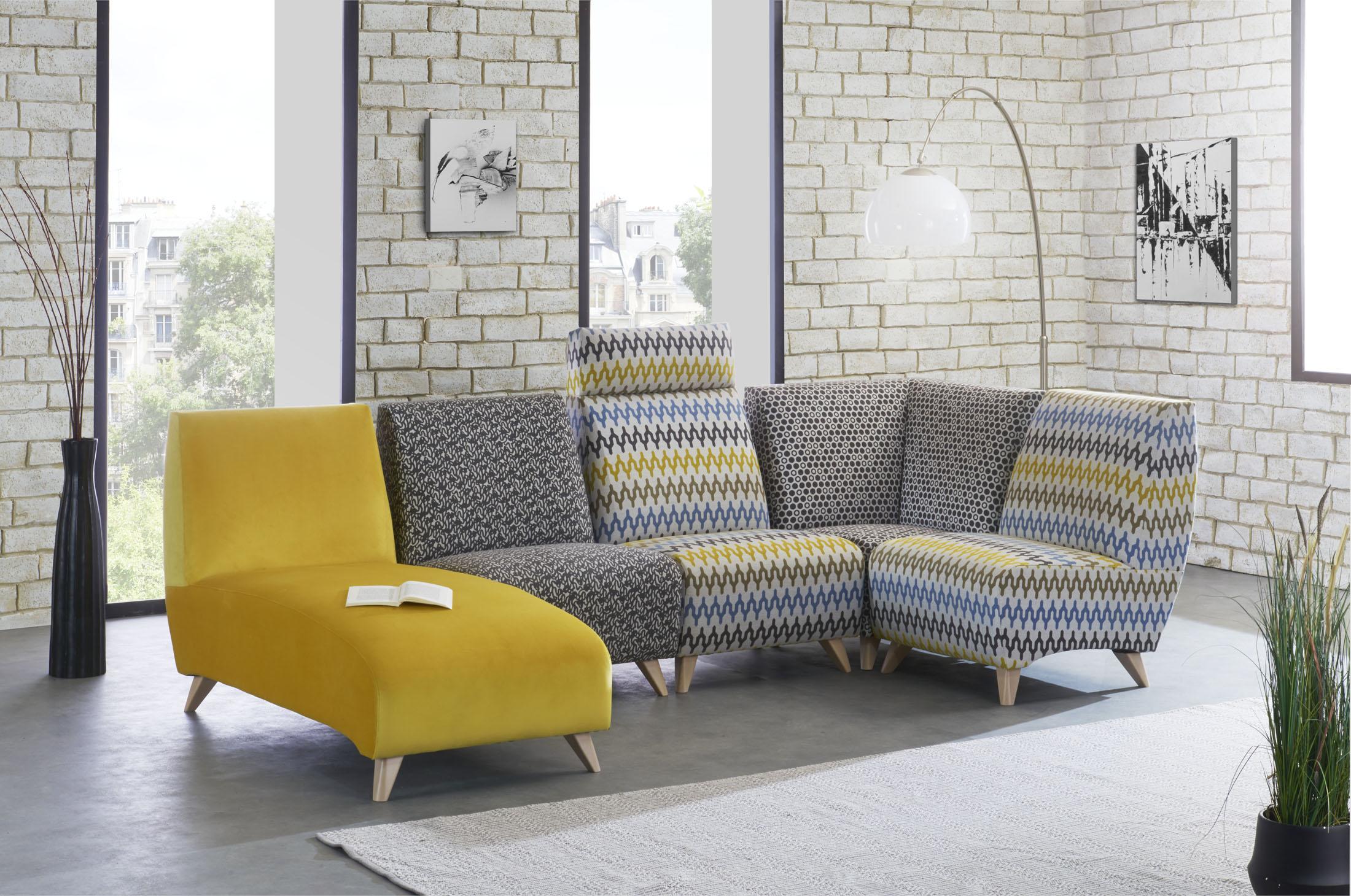 Ambiance en décor studio d'un canapé