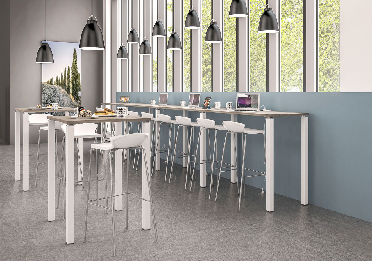 Image 3d d'un ensemble de bureau destiné au coworking