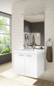 Image 3d d'une petite salle de bain